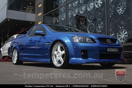 20x8.5 20x9.5 Simmons FR-1 White on HOLDEN COMMODORE VE UTE