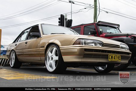 20x8.5 20x9.5 Simmons FR-1 White on HOLDEN COMMODORE VL
