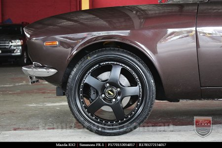 17x7.0 17x8.5 Simmons FR-1 Satin Black on MAZDA RX2