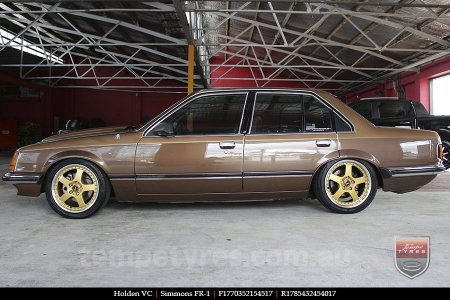 17x7.0 17x8.5 Simmons FR-1 Gold on HOLDEN VC