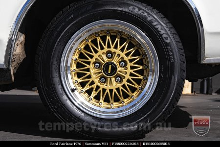 15x8.0 15x10 Simmons V51 GBM on FORD FAIRLANE