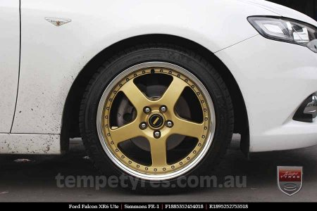 18x8.5 18x9.5 Simmons FR-1 Gold on FORD FALCON