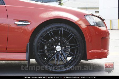 20x8.5 Sothis SC102 FB on HOLDEN COMMODORE VE