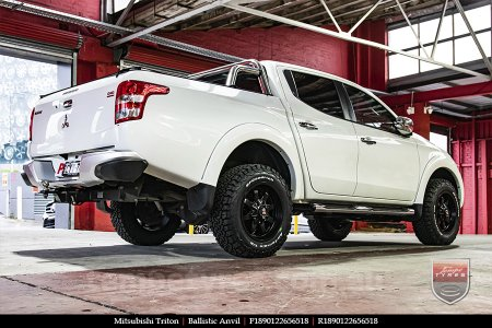 18x9.0 Ballistic Anvil on MITSUBISHI TRITON
