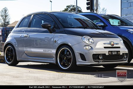 17x7.0 17x8.5 Simmons FR-1 Gloss Black on FIAT 500 ABARTH