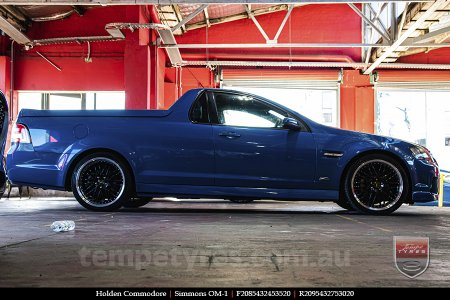 20x8.5 20x9.5 Simmons OM-1 Gloss Black on HOLDEN COMMODORE