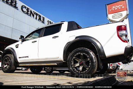 20x9.5 Simmons MAX X05 DCFOY on FORD RANGER WILDTRAK
