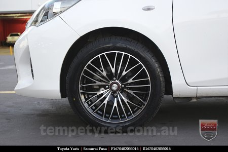 16x7.0 Samurai Fusa on TOYOTA YARIS