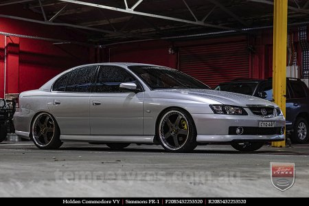 20x8.5 20x9.5 Simmons FR-1 Hyper Dark on HOLDEN COMMODORE VY