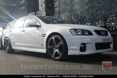 20x8.5 20x10 Simmons FR-C Black Tint NCT on HOLDEN COMMODORE VE