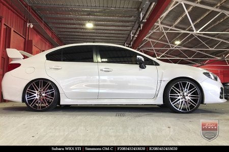 20x8.5 20x10 Simmons OM-C BM on SUBARU WRX