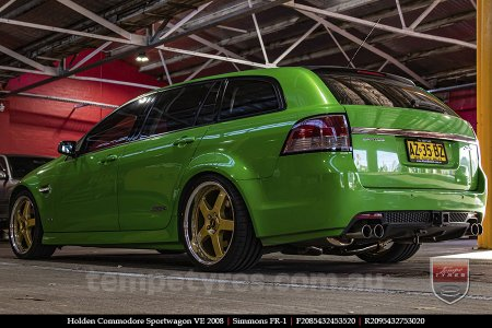 20x8.5 20x9.5 Simmons FR-1 Gold on HOLDEN COMMODORE SPORTWAGON VE