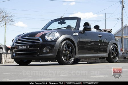 17x7.0 17x8.5 Simmons FR-1 Satin Black on MINI COOPER