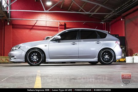 18x8.0 Lenso Type-M MBJ on SUBARU IMPREZA
