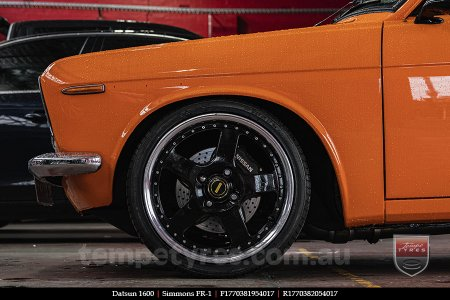 17x7.0 17x8.5 Simmons FR-1 Gloss Black on DATSUN 1600