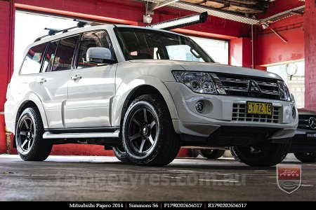17x9.0 Simmons S6 Matte Black NCT on MITSUBISHI PAJERO