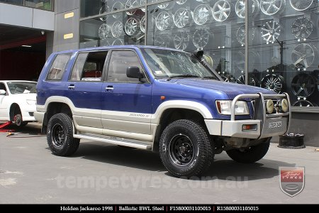 15x8.0 Ballistic BWL Steel on HOLDEN JACKAROO