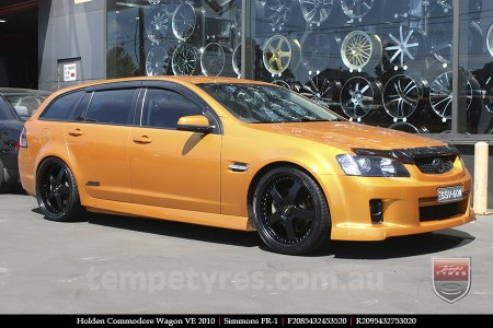 20x8.5 20x9.5 Simmons FR-1 Satin Black on HOLDEN COMMODORE WAGON VE