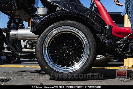 17x8.0 17x10 Simmons V51 BKM on OZ TRIKES