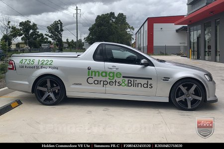 20x8.5 20x10 Simmons FR-C Black Tint NCT on HOLDEN COMMODORE VE UTE