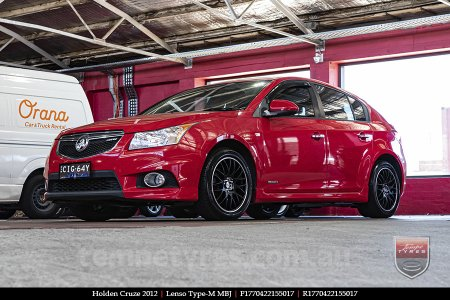 17x7.0 Lenso Type-M - MBJ on HOLDEN CRUZE