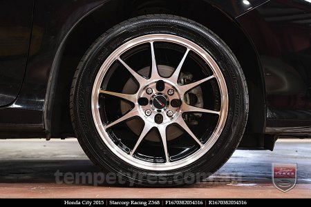16x7.0 Starcorp Racing Z568 on HONDA CITY
