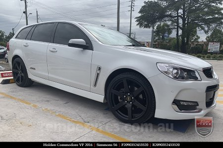 20x9.0 Simmons S6 Matte Black NCT on HOLDEN COMMODORE VF