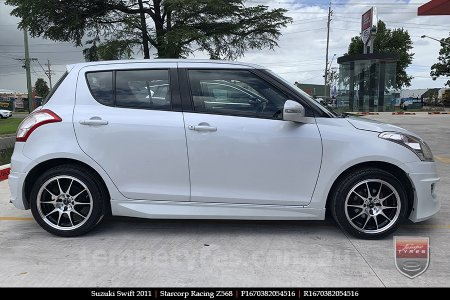 16x7.0 Starcorp Racing Z568 on SUZUKI SWIFT