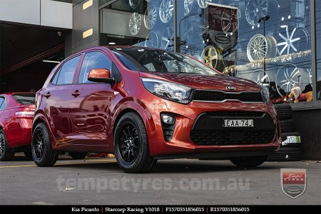 15x7.0 Starcorp Racing Y1018 on KIA PICANTO