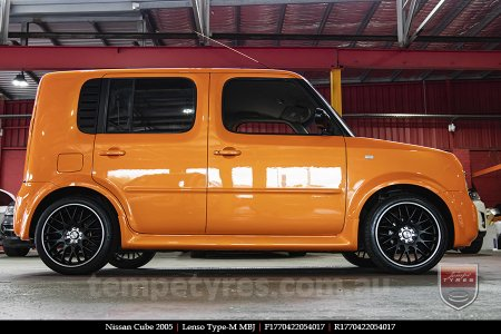 17x7.0 Lenso Type-M - MBJ on NISSAN CUBE