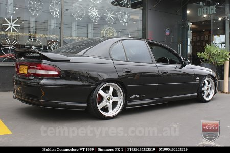 19x8.5 19x9.5 Simmons FR-1 Silver on HOLDEN COMMODORE VT
