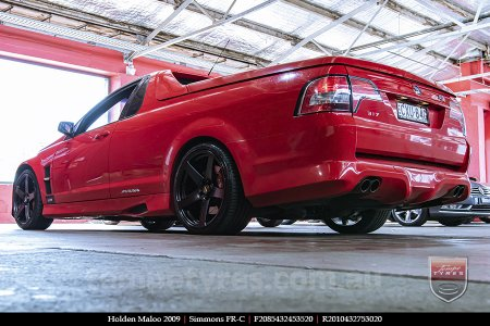 20x8.5 20x10 Simmons FR-C Satin Black NCT on HOLDEN MALOO