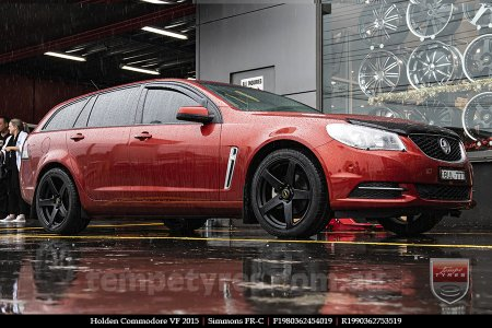 19x8.0 19x9.0 Simmons FR-C Matte Black NCT on HOLDEN COMMODORE VF