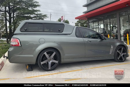 20x8.5 20x10 Simmons FR-C Black Tint NCT on HOLDEN COMMODORE VF
