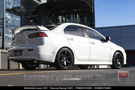 18x8.0 Starcorp Racing Y6011 on MITSUBISHI LANCER