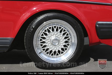 16x7.5 Lenso BSX Silver on VOLVO 240