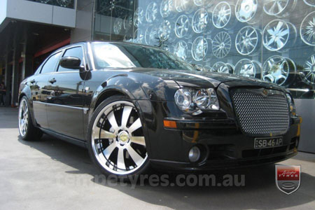 22x9.5 Lenso Concerto - BKI on CHRYSLER 300C SRT8