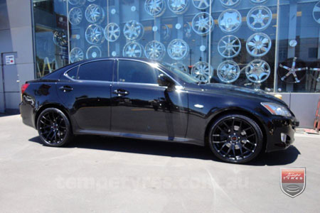 19x8.5 GTS-R Black on LEXUS IS250