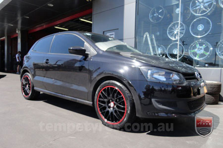 17x7.0 Lenso Type-M - MBRG on VW POLO