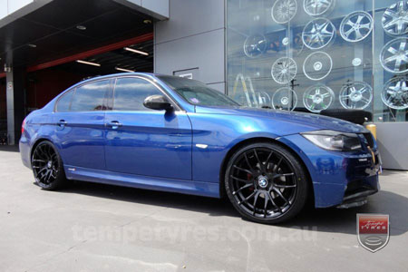 19x8.5 GTS-R Black on BMW 3 SERIES