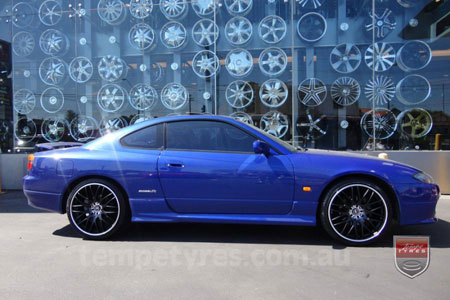 19x8.5 Lenso Type-M MBJ on NISSAN 200SX