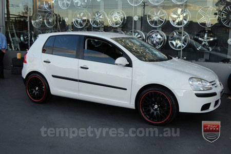 18x8.0 Lenso Type-M MBRG on VW GOLF