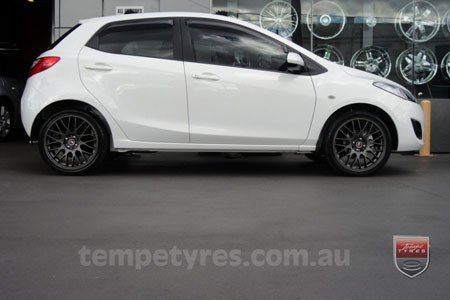17x7.0 Lenso Type-M - DG on MAZDA 2