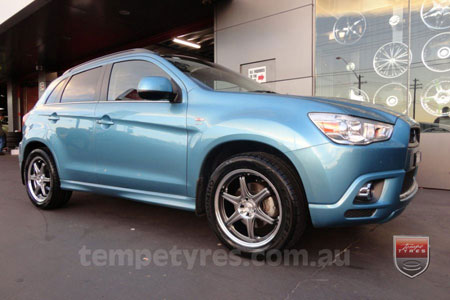 17x7.0 Lenso GT-6 Shadow on MITSUBISHI ASX