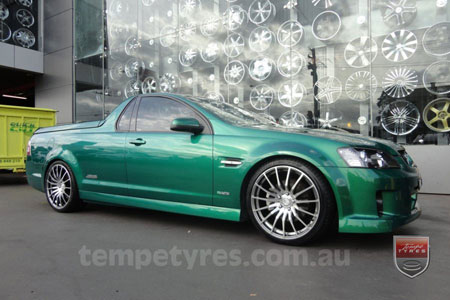 20x8.5 20x9.5 Lenso Conquista 5 CQ5 on HOLDEN COMMODORE VE UTE