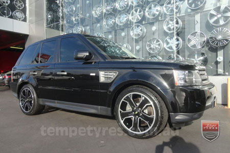 20x9.5 Style5932 Black on RANGE ROVER SPORT