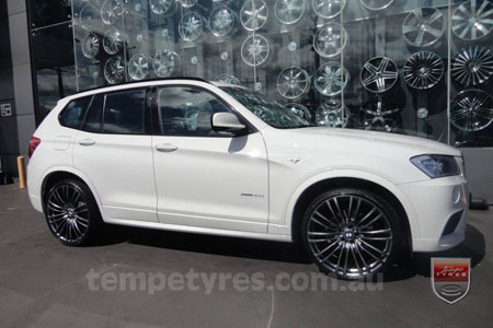 20x8.5 Lenso Como Shadow on BMW X3