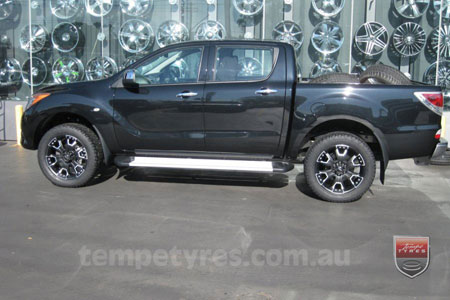 20x9.0 Ballistic Havoc Black on MAZDA BT50