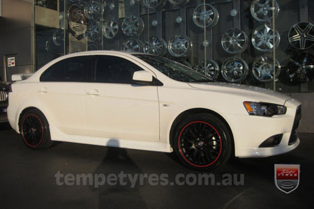 18x8.0 Lenso Type-M MBRG on MITSUBISHI LANCER