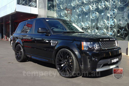 22x10 Cosworth Black on RANGE ROVER SPORT
